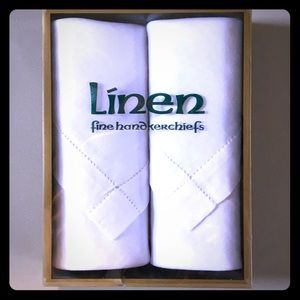 PURE LINEN White Handkerchiefs